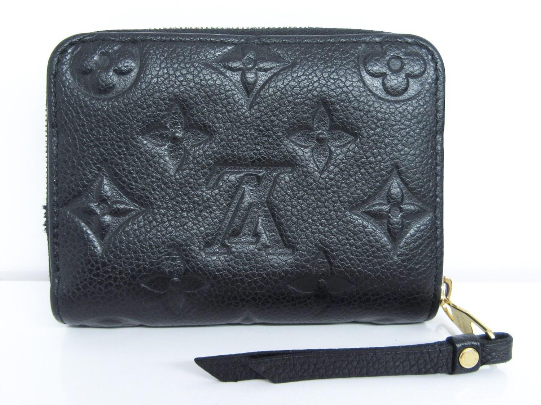 c7ea35126 Louis Vuitton Monogram Empreinte Leather Zippy Coin Purse Noir ...
