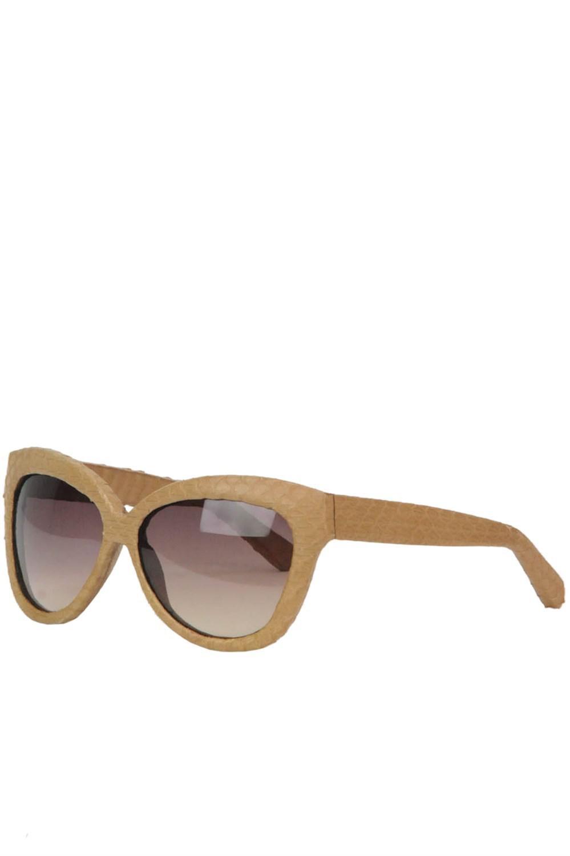 285feee7dfd Lyst - Linda Farrow Oversized Snakeskin Frame Sunglasses Lfl38c12 in ...