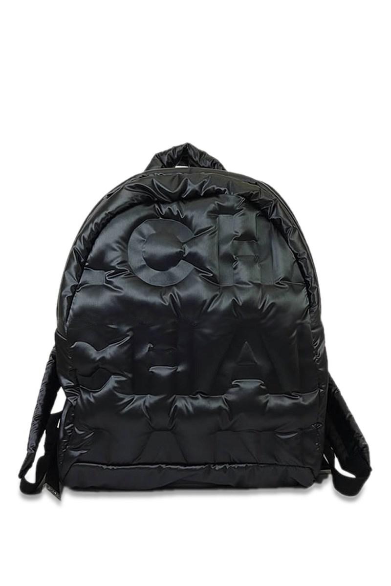 5d3d48d0e2e0 Chanel 2017aw New Doudoune Backpack Rucksack Small Black Embossed ...