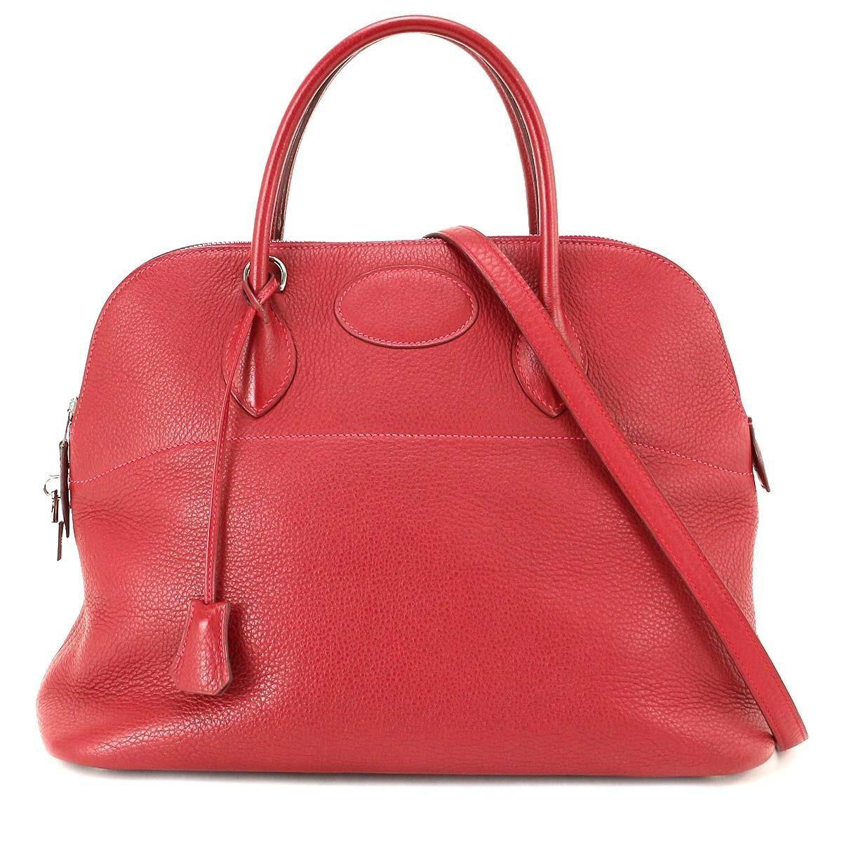 d8592a765824 ... indigo limited edition e25ed 137e9  discount lyst hermès bolide 35  traurillon clemence rouge vif 2way hand bag 8dfad 9b0d0