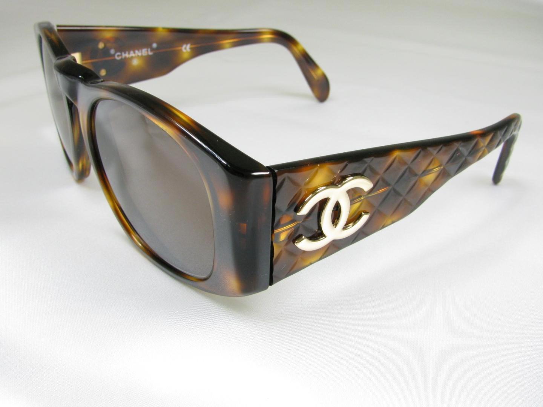 5f0afdd161 Lyst - Chanel Vintage Sunglasses Plastic Brown Tortoiseshell ...