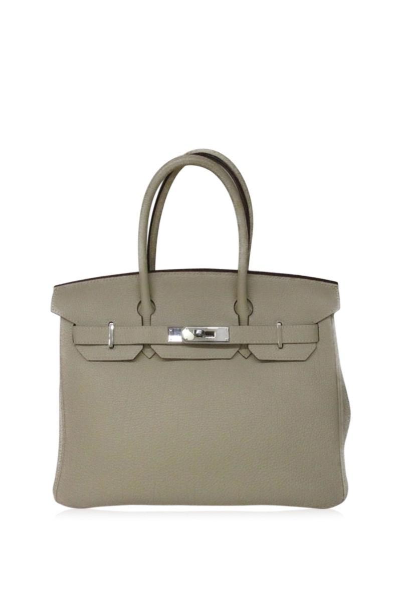 8ccb9188344 Lyst - Hermès Birkin 30 Handbag Tote Bag Togo Leather Parchemin ...