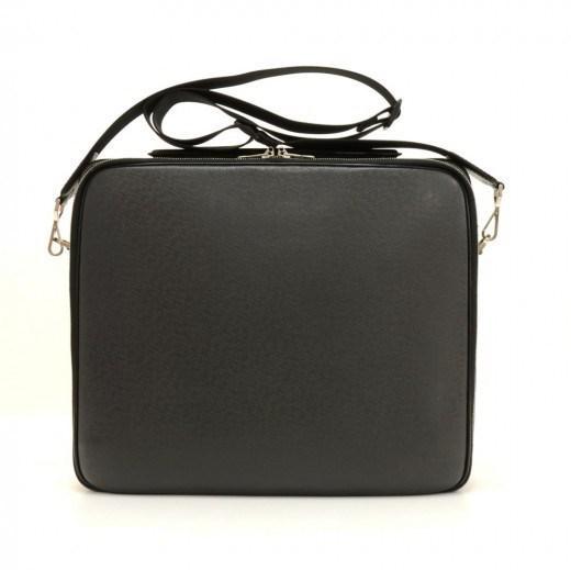 bb43a8dbddc5 Lyst - Louis Vuitton Odessa Black Taiga Leather Large Laptop ...
