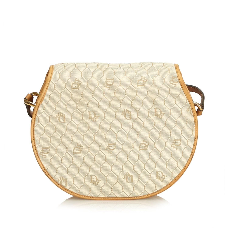 Lyst - Dior Honeycomb Coated Canvas Crossbody Bag in Natural 3a7a3f013a
