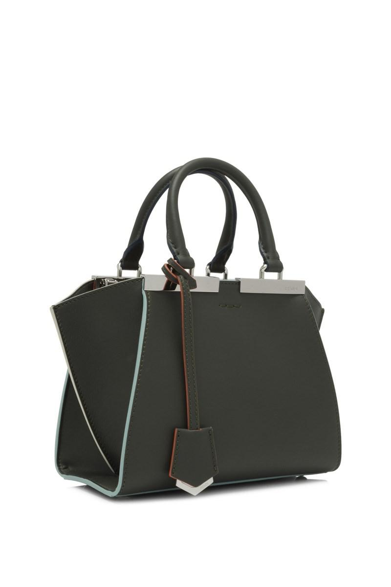220fc340766b ... wholesale fendi green 3jours mini shopping bag lyst. view fullscreen  96912 96300