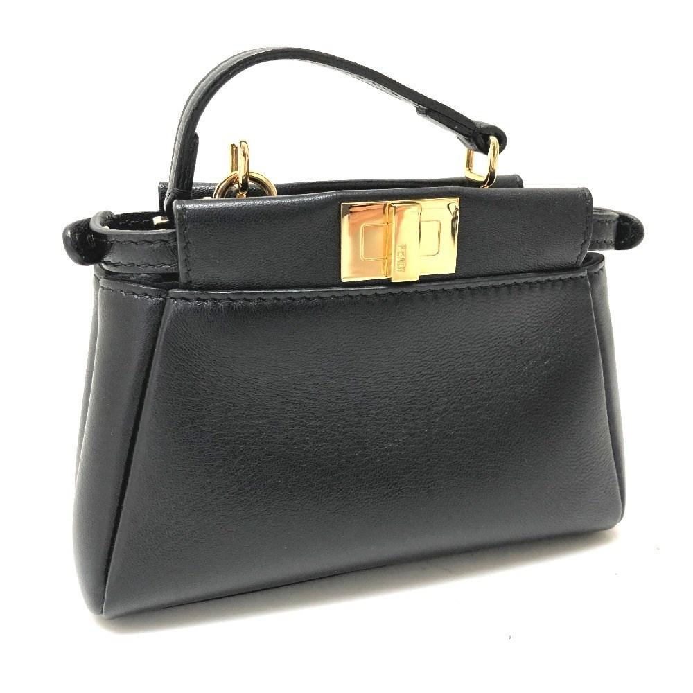 80a5ba5897f1 Lyst - Fendi Micro Peekaboo Pochette Mini Bag 2 Way Bag Shoulder Bag ...