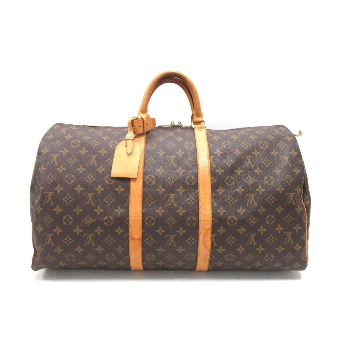 476b57b2f461 Lyst - Louis Vuitton Keepall Brown Cloth Bag in Brown for Men