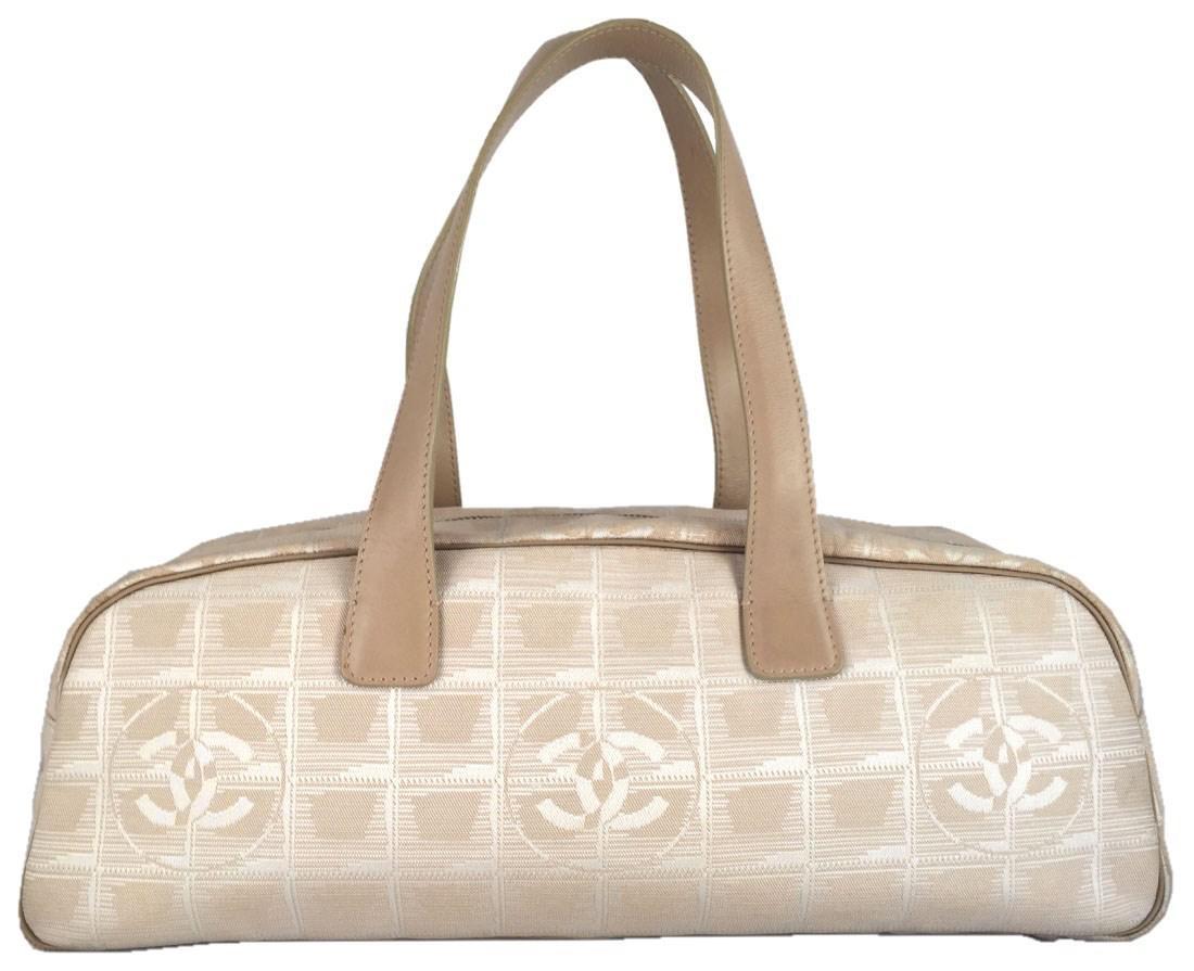 0668ac140ae38e Lyst - Chanel Handbag New Travel Line Beige Neutral Canvas in Natural