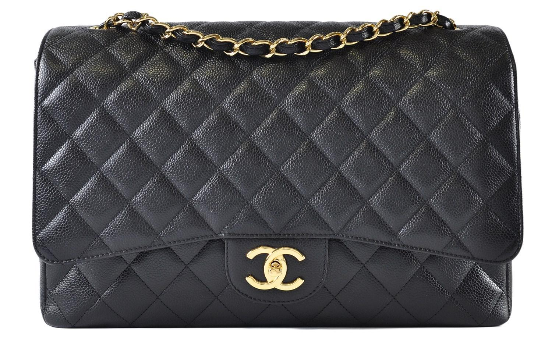1d11471b14 Chanel Maxi Jumbo Caviar Classic Flap In Black Ghw in Black - Lyst