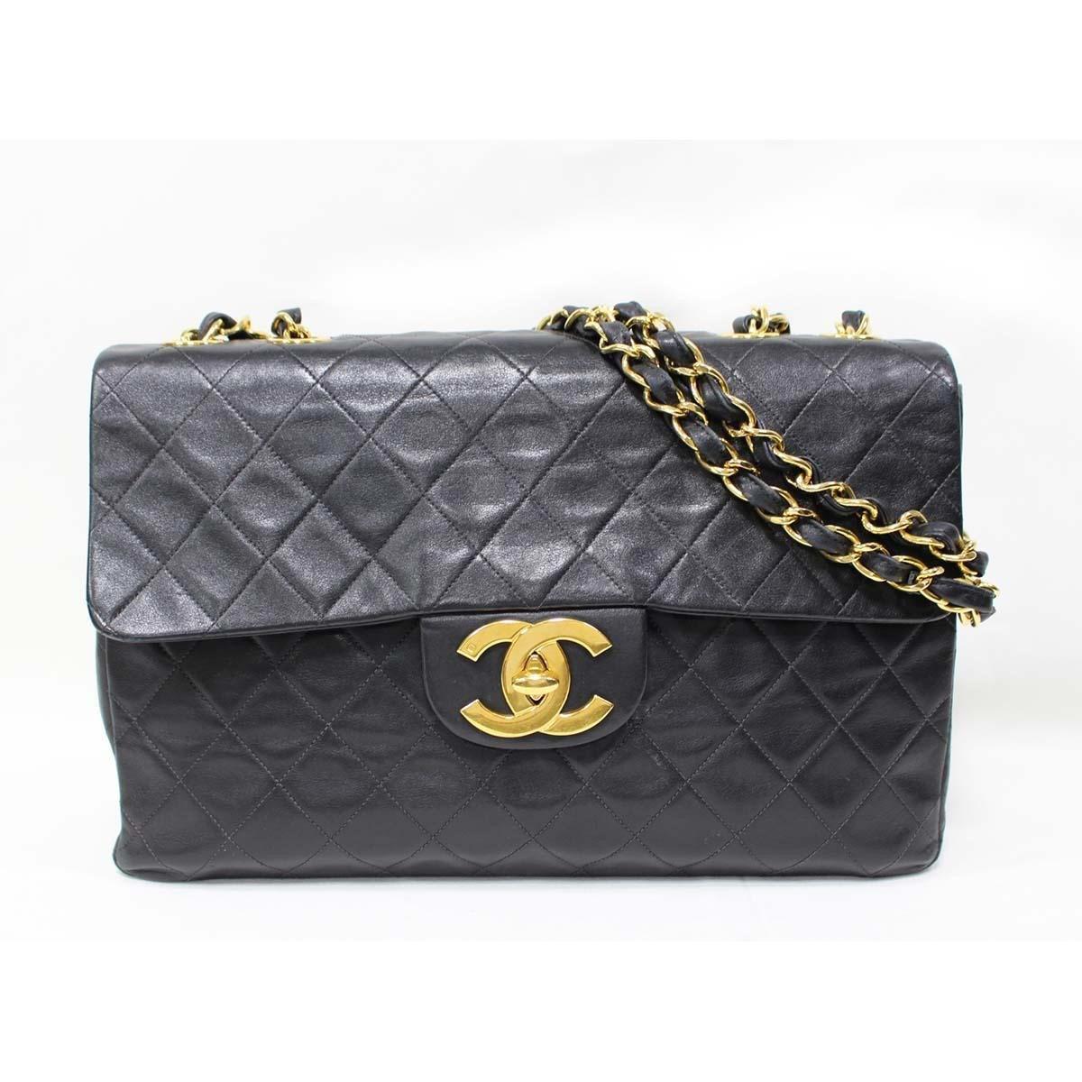 Lyst - Chanel Jumbo Deca Matelasse Chain Shoulder Crossbody Bag ... dd10667a708ff