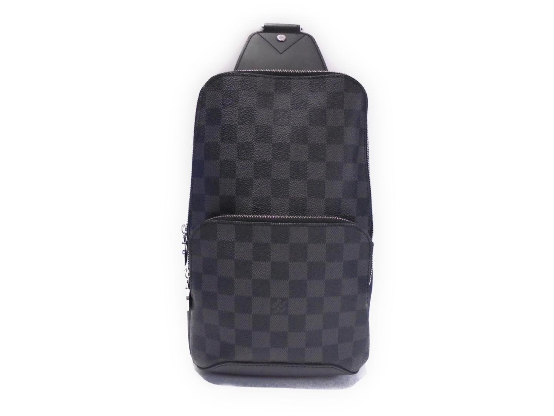 a012aea2fe801 Lyst - Louis Vuitton Avenue Sling Bag Cross Body Damier Graphite ...