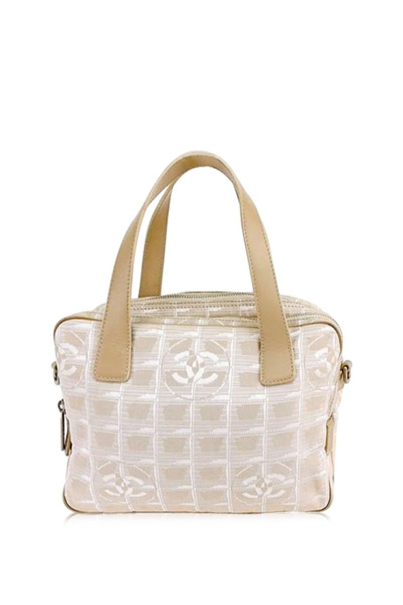 Chanel Women S Natural Handbag New Travel Line Las Authentic Used T6451