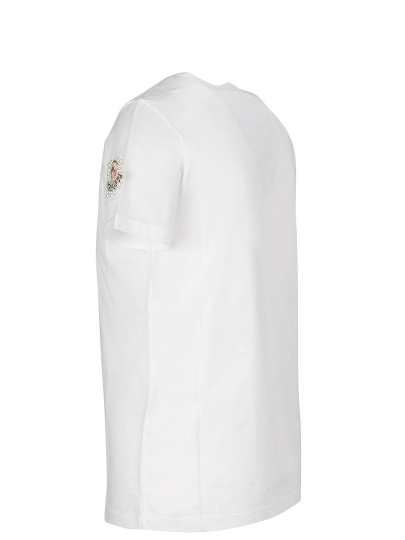 Moncler - Women s 8052400v8030002 White Cotton T-shirt - Lyst. View  fullscreen 8d1b7fe007