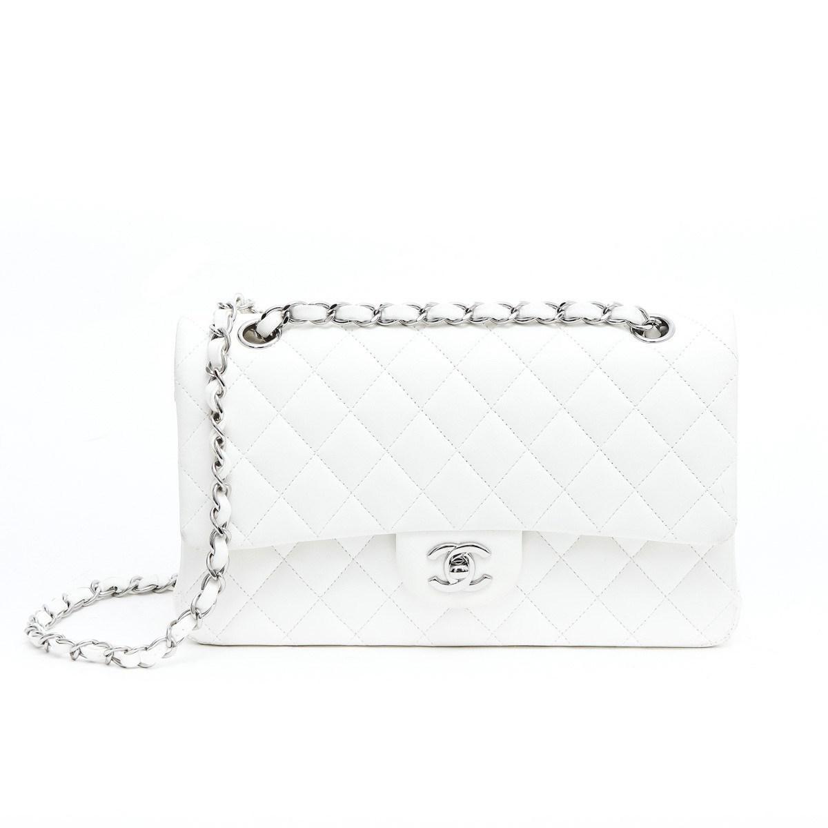 Lyst - Chanel Sac Timeless Cuir D agneau Blanc Matelassé   in White 47013a984c0