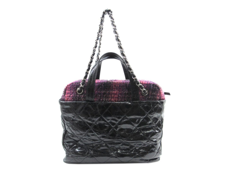 6423a4eb244b Chanel Portobello Bag 2way Bag Leather Tweed Black Pink in Black - Lyst