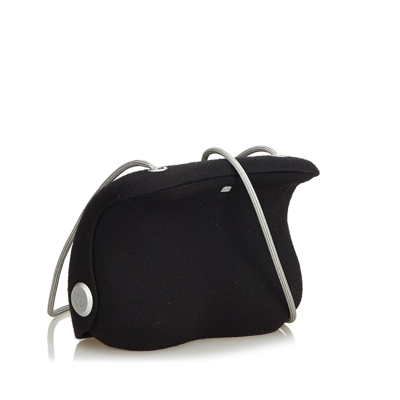 e9a67f0dd594 Chanel - Black Wool Crossbody Bag - Lyst. View fullscreen