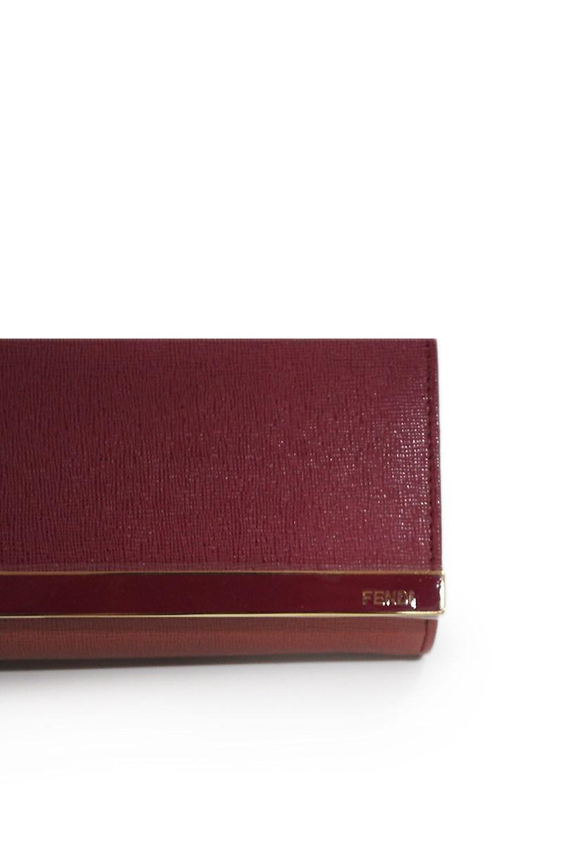 3f2ca5563a7e Lyst - Fendi Rush Pochette Vitello Clutch in Purple