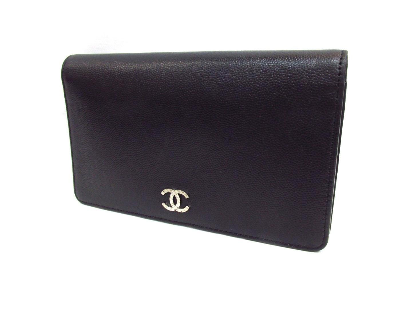 0ccae2c5951c Lyst - Chanel Zip Long Wallet Two Fold Wallet Goat Skin Leather ...