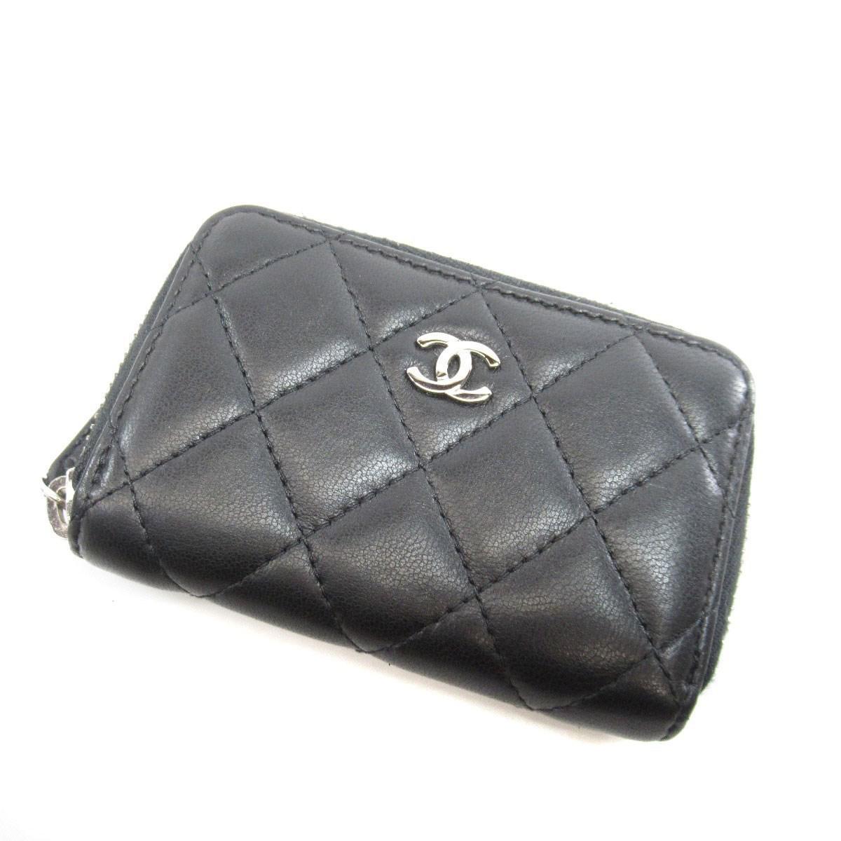 5e0ce8722c4 Lyst - Chanel Lambskin Coin Purse Coco Mark in Black