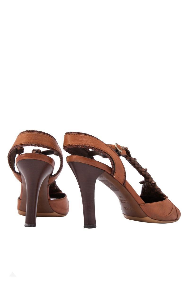 ba7a8a646dc422 Lyst - Fendi Pre-owned Sandal Heels in Brown