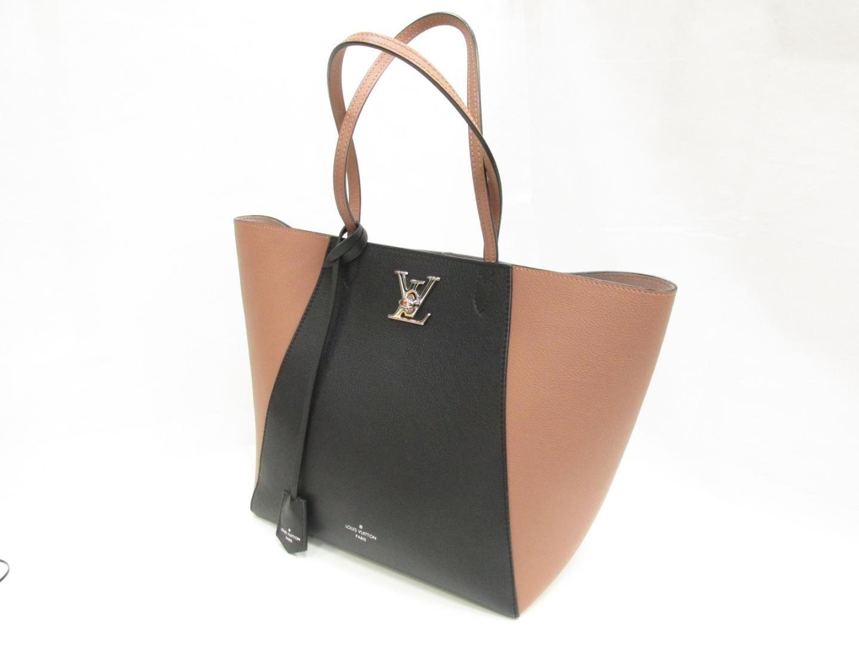 Lyst - Louis Vuitton Lockme Cabas Tote Bag Calf Leather Bois De Rose ... aee888e3bb1