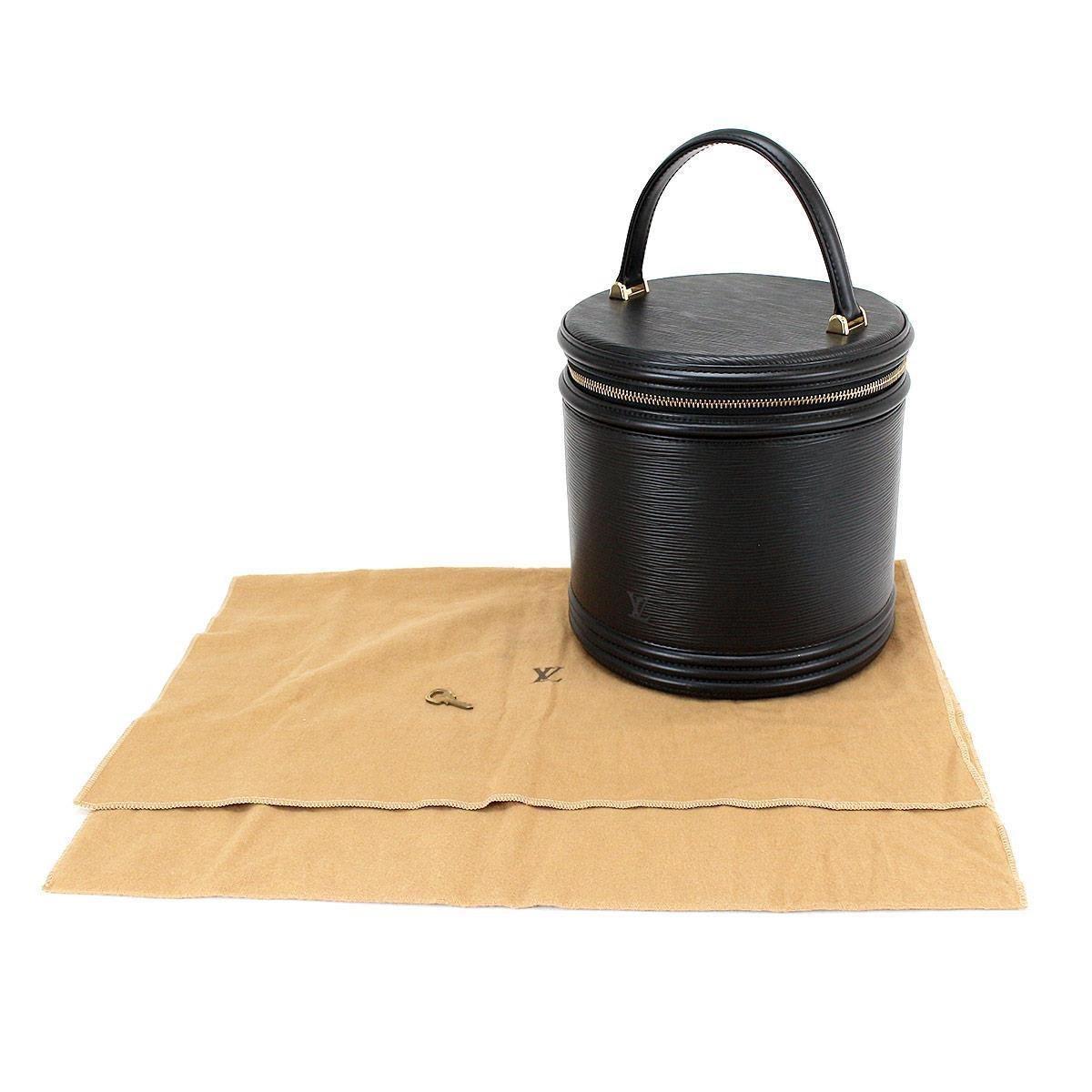 033af93a9db8 Lyst - Louis Vuitton Epi Leather Cannes Vanity Hand Bag Noir M48032 ...