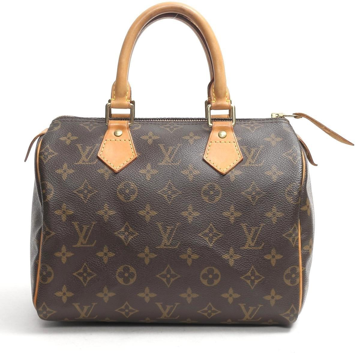 db47d81f Louis Vuitton Authentic Speedy 25 Boston Hand Bag M41528 Monogram ...