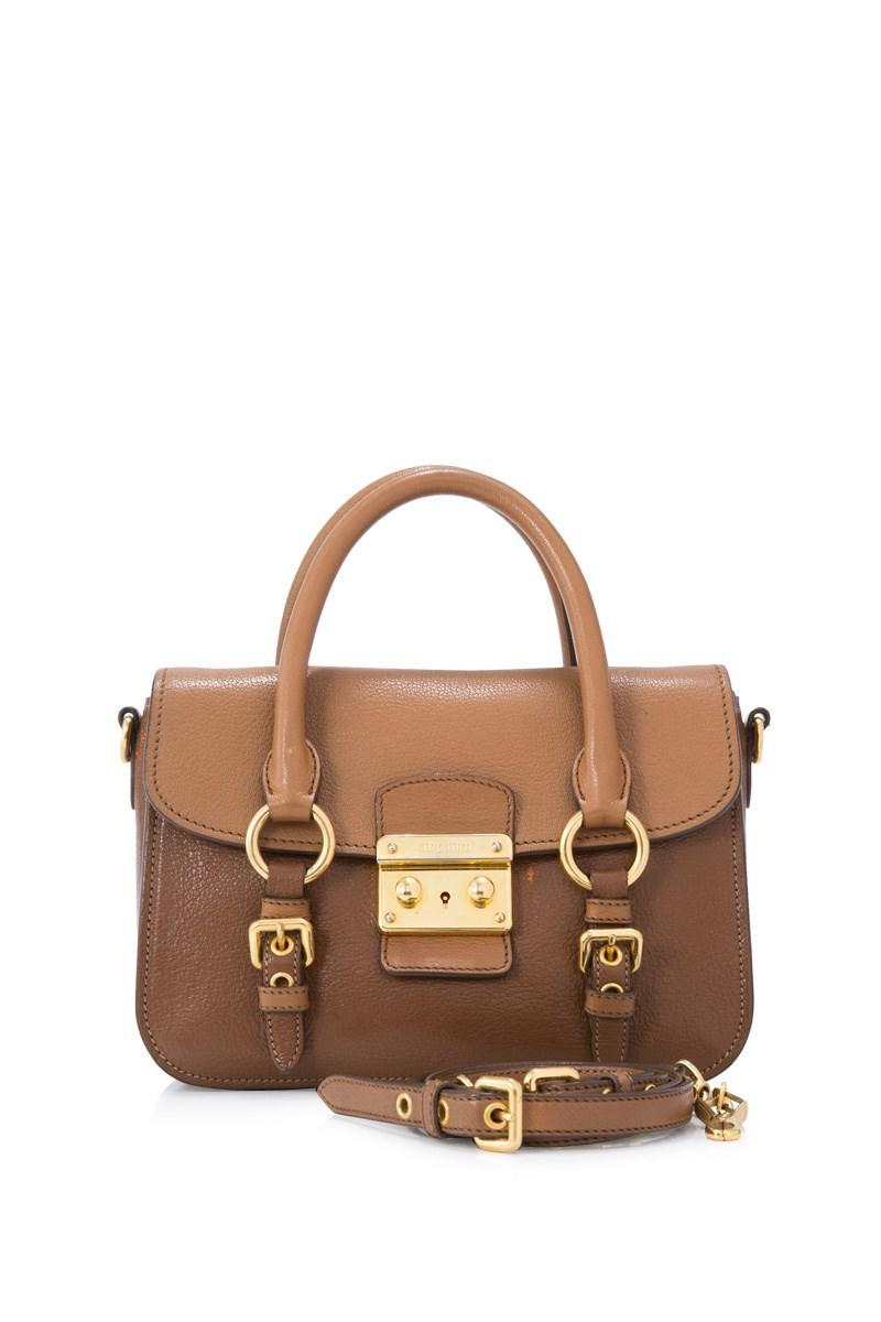 Free Shipping Low Cost Pre-owned - Madras leather crossbody bag Miu Miu Cheap Sale Online Manchester Online Discount Cheap ePbgOL