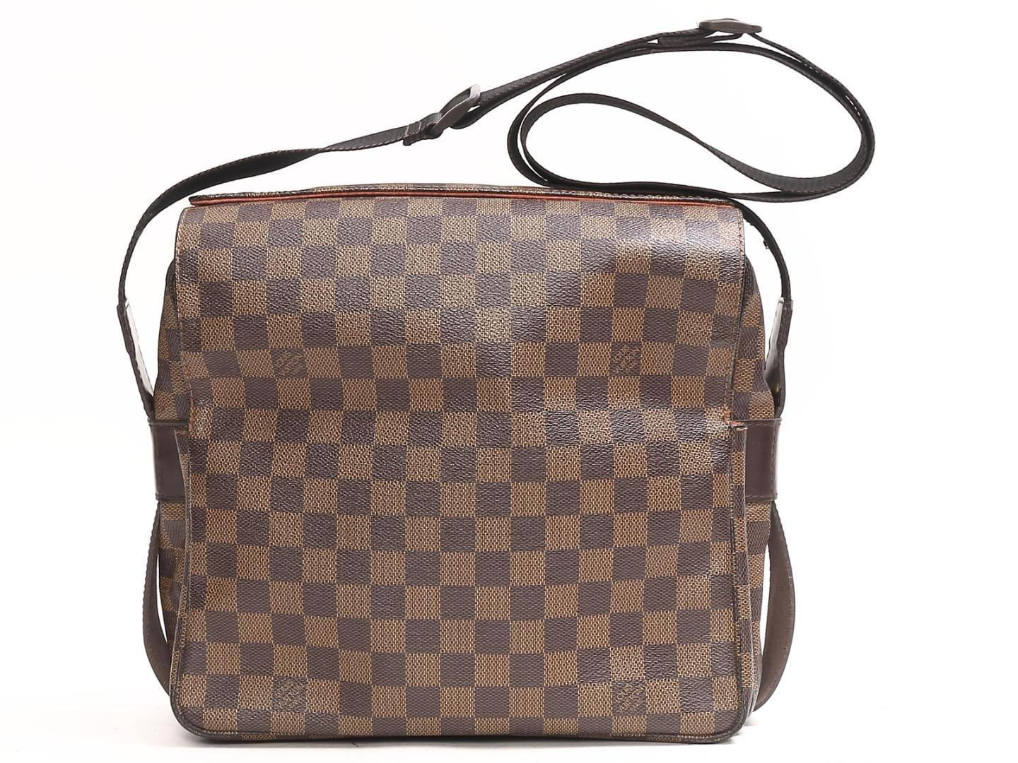 5cb28734893e Louis Vuitton. Women s Brown Authentic Naviglio Shoulder Bag N45255 Damier  Used Vintage