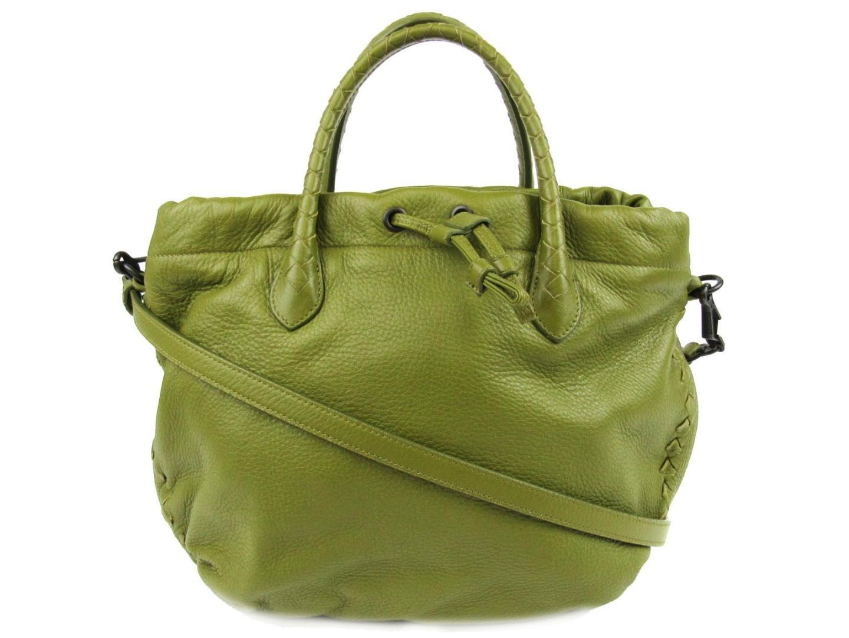 996d335af22 Lyst - Bottega Veneta 2 Way Shoulder Bag Leather Green in Green