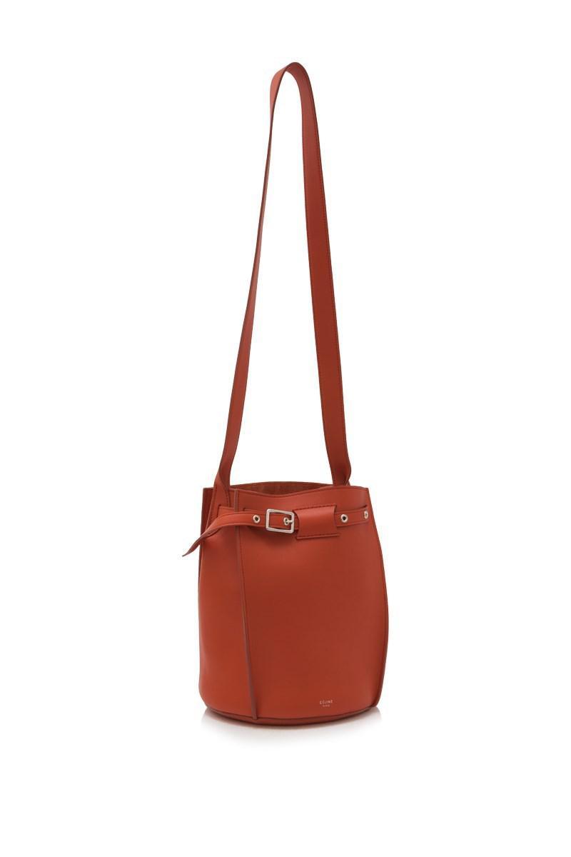 Lyst - Céline Céline Big Bag Bucket in Red 1855f98980