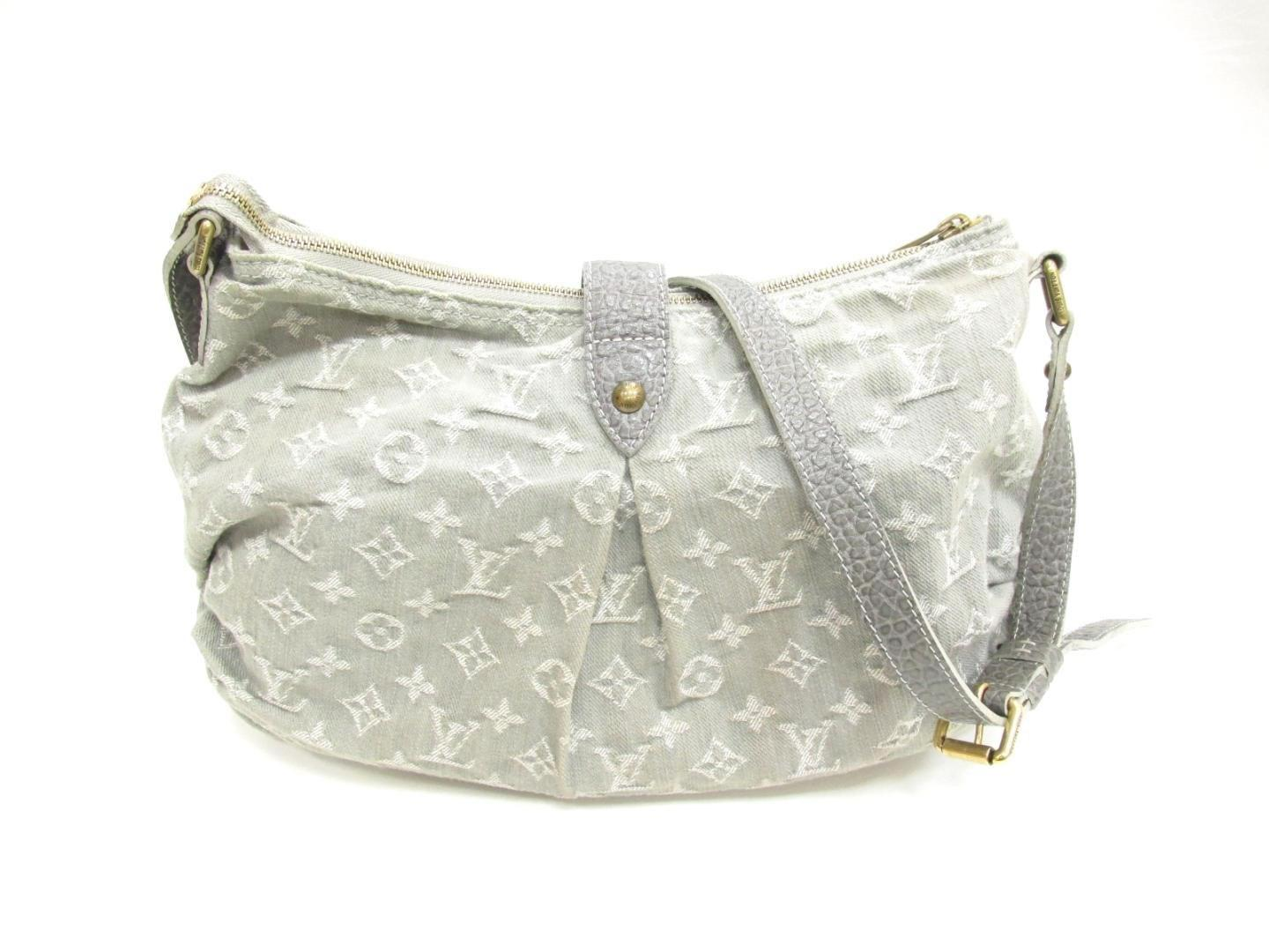 912c181bd8cb Lyst - Louis Vuitton Slightly Shoulder Bag Monogram Denim Grey ...