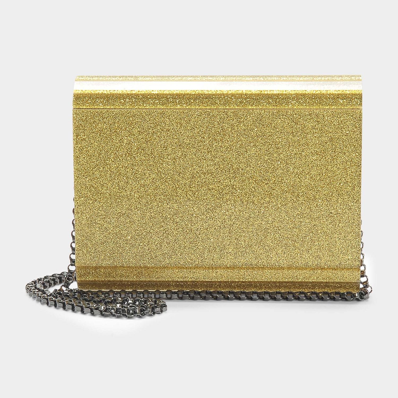 cca41a6f25e29 Lyst - Jimmy Choo I Want Choo Candy Clutch Bag In Gold Glitter ...