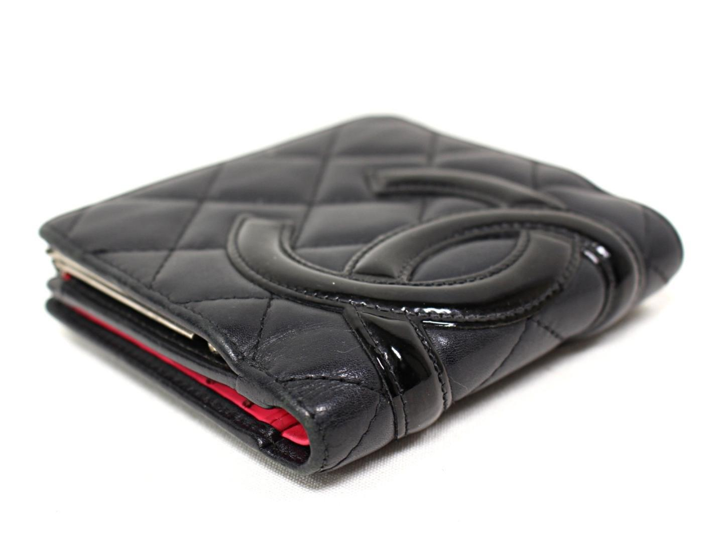 2dc5c3699f94 Chanel Cambon Ligne Bifold Wallet Quilted Lambskin Leather Black in ...