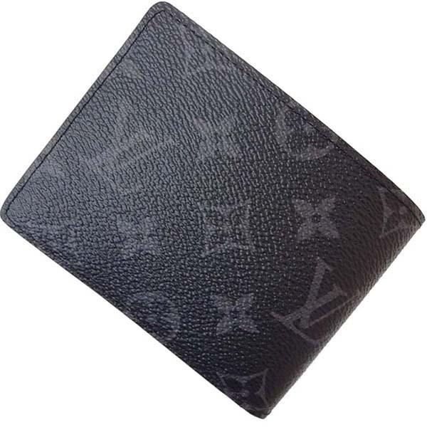 f3c5928658b9 Lyst - Louis Vuitton Multiple Wallet Monogram Eclipse M61695 Black ...