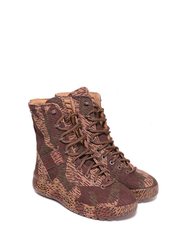 46b6da32a7c79 Lyst - Yeezy Season 6 Splinter Camo Military Boots in Brown for Men