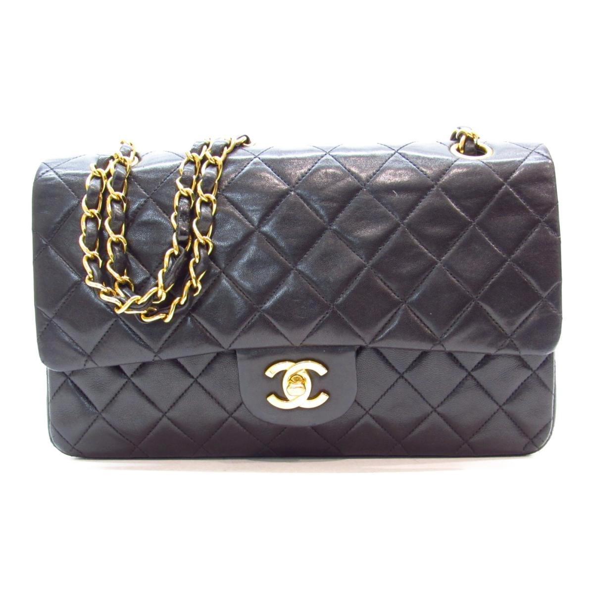 3719200336c Lyst - Chanel Authentic Matelasse W Flap Chain Shoulder Bag Lambskin ...