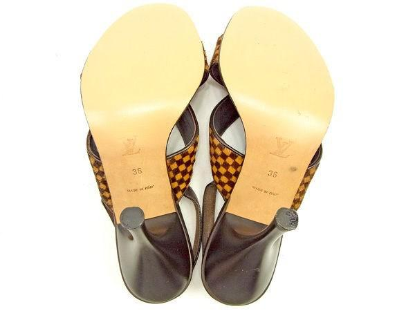 f9165f8266a5 Lyst - Louis Vuitton Sandals Damier Sauvage Ladies Used T970 in Brown