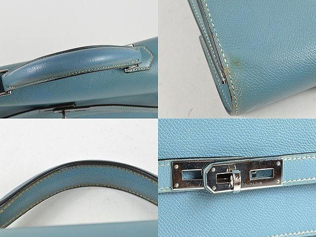 f3655053a2a0 Lyst - Hermès Kelly Depeche 38 Business Bag Briefcase Epson □i in Blue