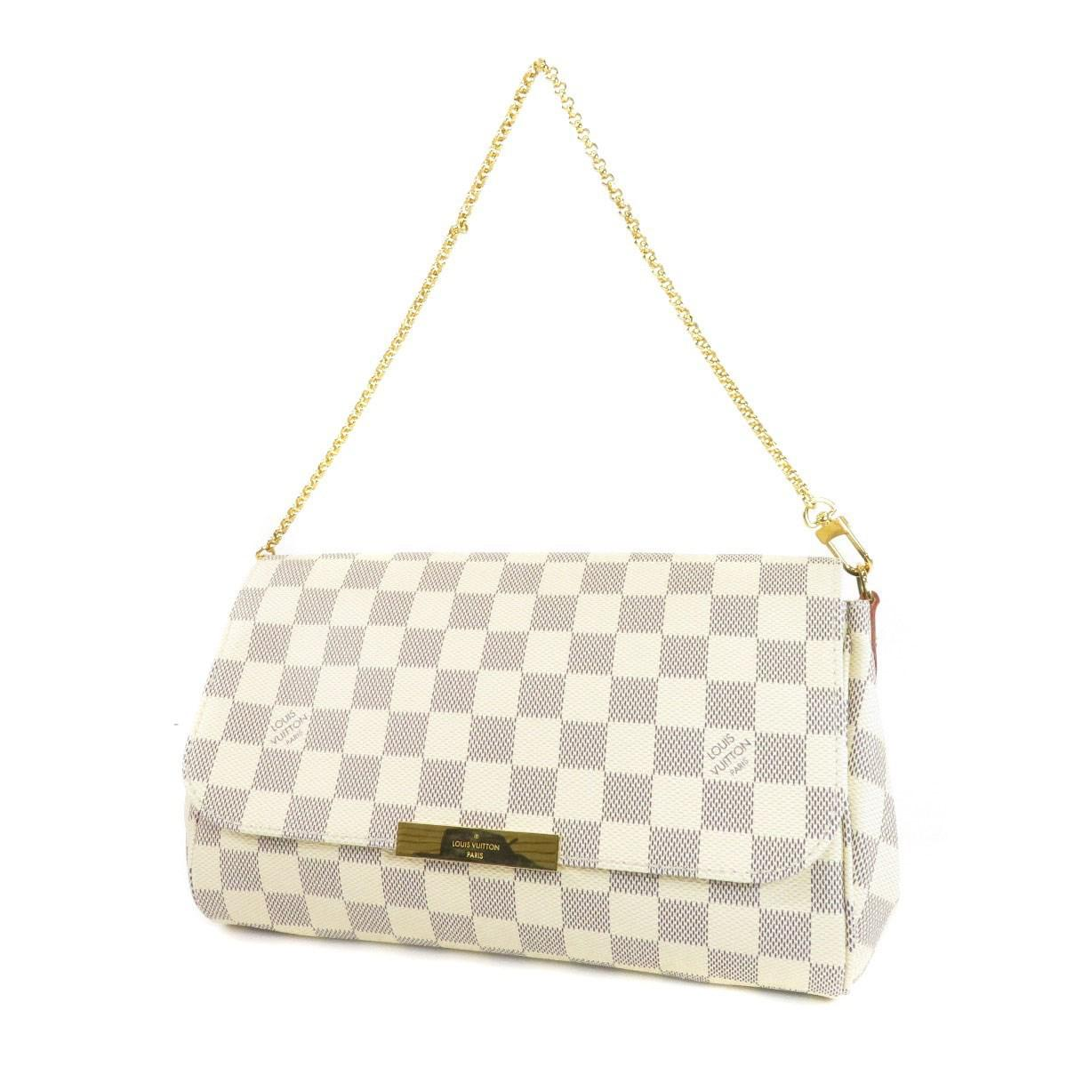 3875b449ee82 Lyst - Louis Vuitton Damier Canvas Shoulder Bag N41275 Favorite Mm ...