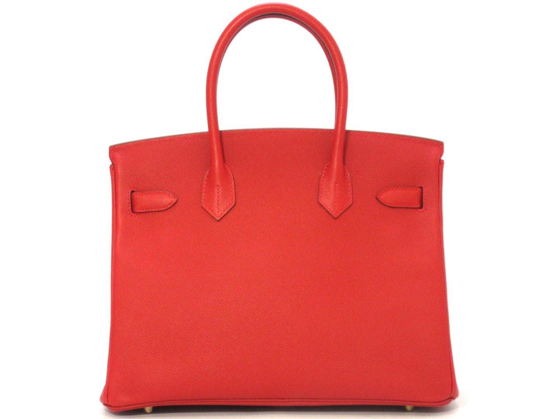 Lyst - Hermès Birkin 30 Handbag Totebag Veau Epsom Leather Rouge ... 2994b46480