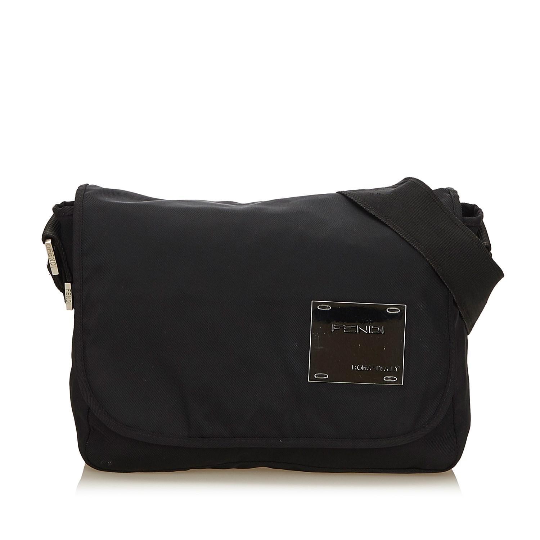 fd68665223a ... zucca jacquard crossbody bag shoulder bag photo a197665 g 9bbb7 f9959  uk fendi black nylon crossbody bag lyst. view fullscreen a4e24 e79bf ...