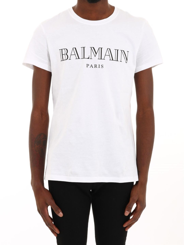 9afdd943 Balmain - T-shirt White/black for Men - Lyst. View fullscreen