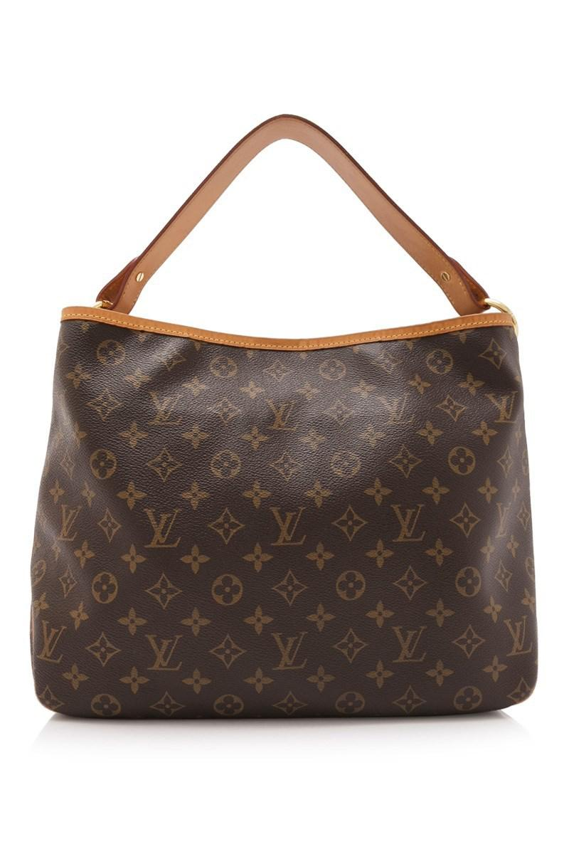 ab87a7a6d2f Lyst - Louis Vuitton Pre-owned Monogram Delightful Pm in Brown