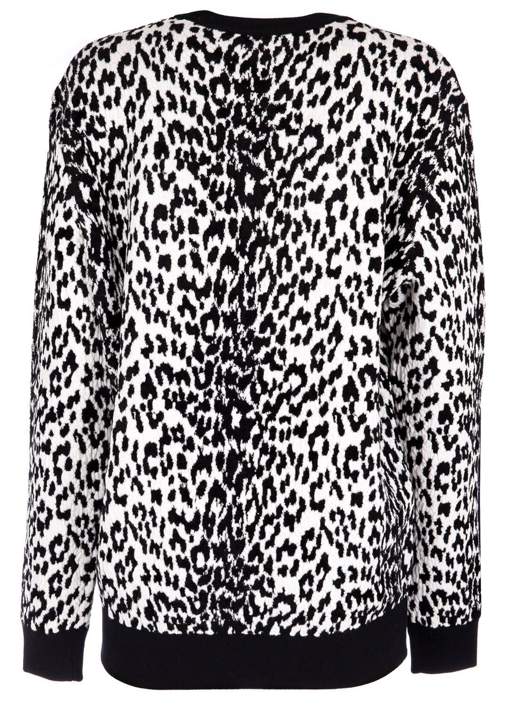 Lyst - Givenchy Women s Bw902e4z2m004 White black Wool Sweater in Black 75e13ad8e