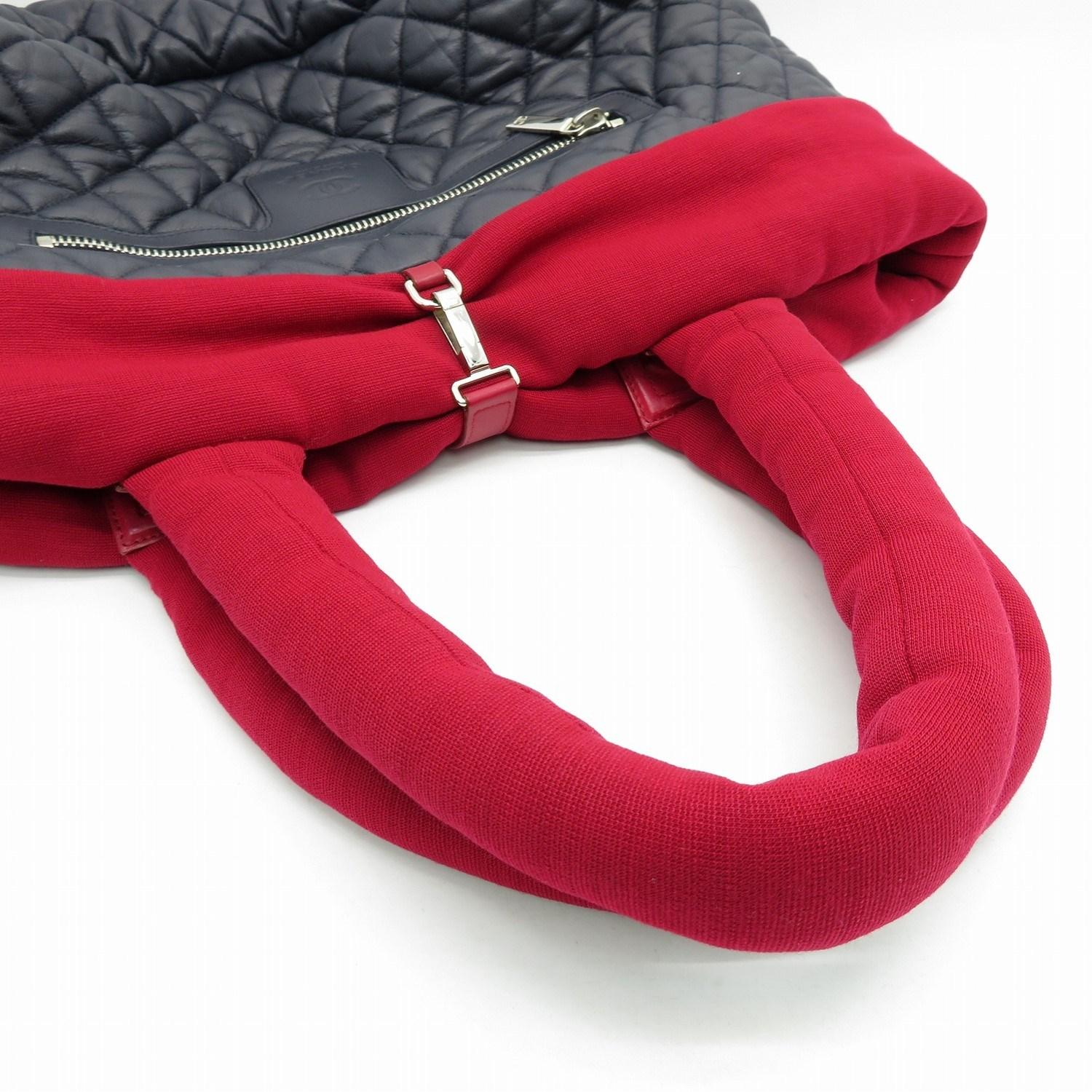 5c492d0b123387 Chanel - Matelasse Cc Coco Cocoon Tote Bag Lambskin Canvas Blue Red 0910 -  Lyst. View fullscreen