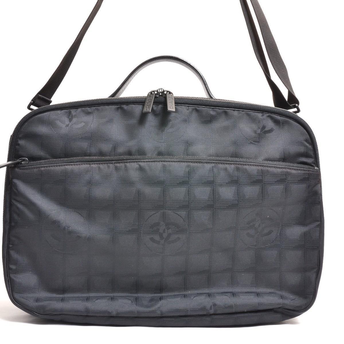 960b81efd18d Lyst - Chanel Nylon Jacquard 2 Way Travel Bag New Travel Line ...