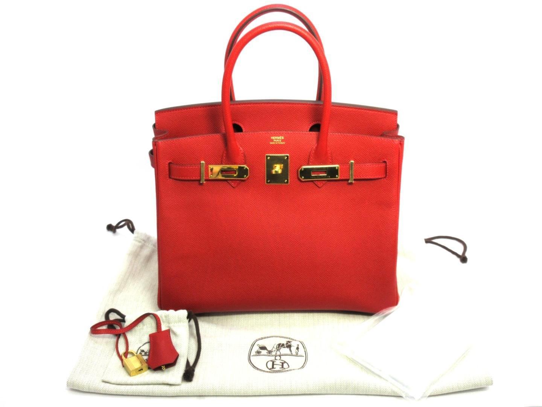 d88bca3aa4cb Lyst - Hermès Birkin 30 Handbag Totebag Veau Epsom Leather Rouge ...