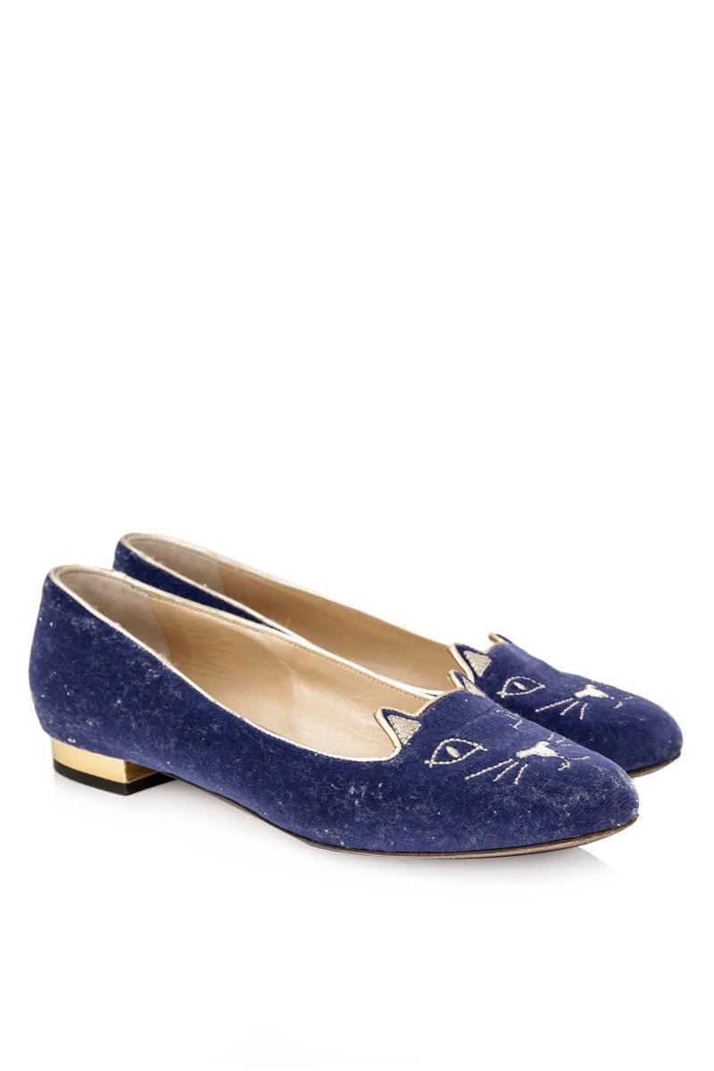 Pre-owned - Ballet flats Charlotte Olympia shibH