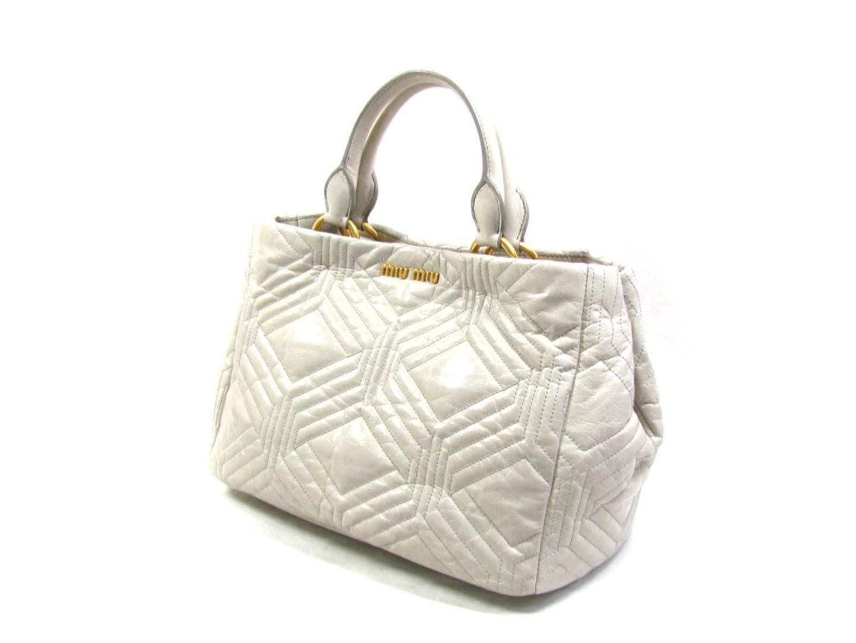 8d313a6f2888 Miu Miu - Gray 2way Shoulder Bag Rn 0928 2a 41 F 0 424 00 Leather. View  Fullscreen